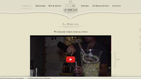 La Barcaza website